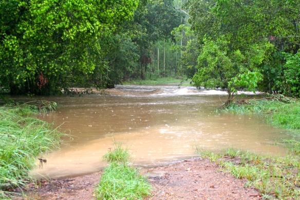 Flooded causeway