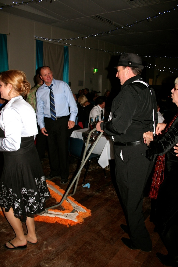 Dave Weller cleans up on the dance floor and inadvertently starts a Conga Line